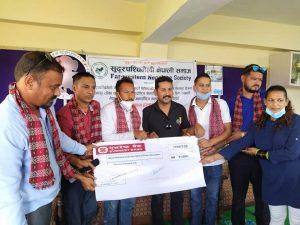 सुदुरपश्चिमेली नेपाली समाजद्वारा राष्ट्रिय तथा अन्तर्राष्ट्रिय खेलाडीहरुलाई कोभिड-१९ विरुद्ध बिमा गर्न आर्थिक सहयोग