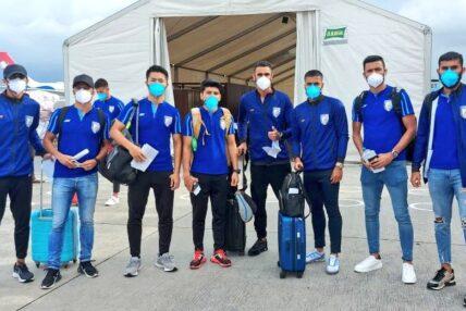 मैत्रीपूर्ण फुटबलका लागि भारतीय टोली काठमाण्डाै आइपुग्याे